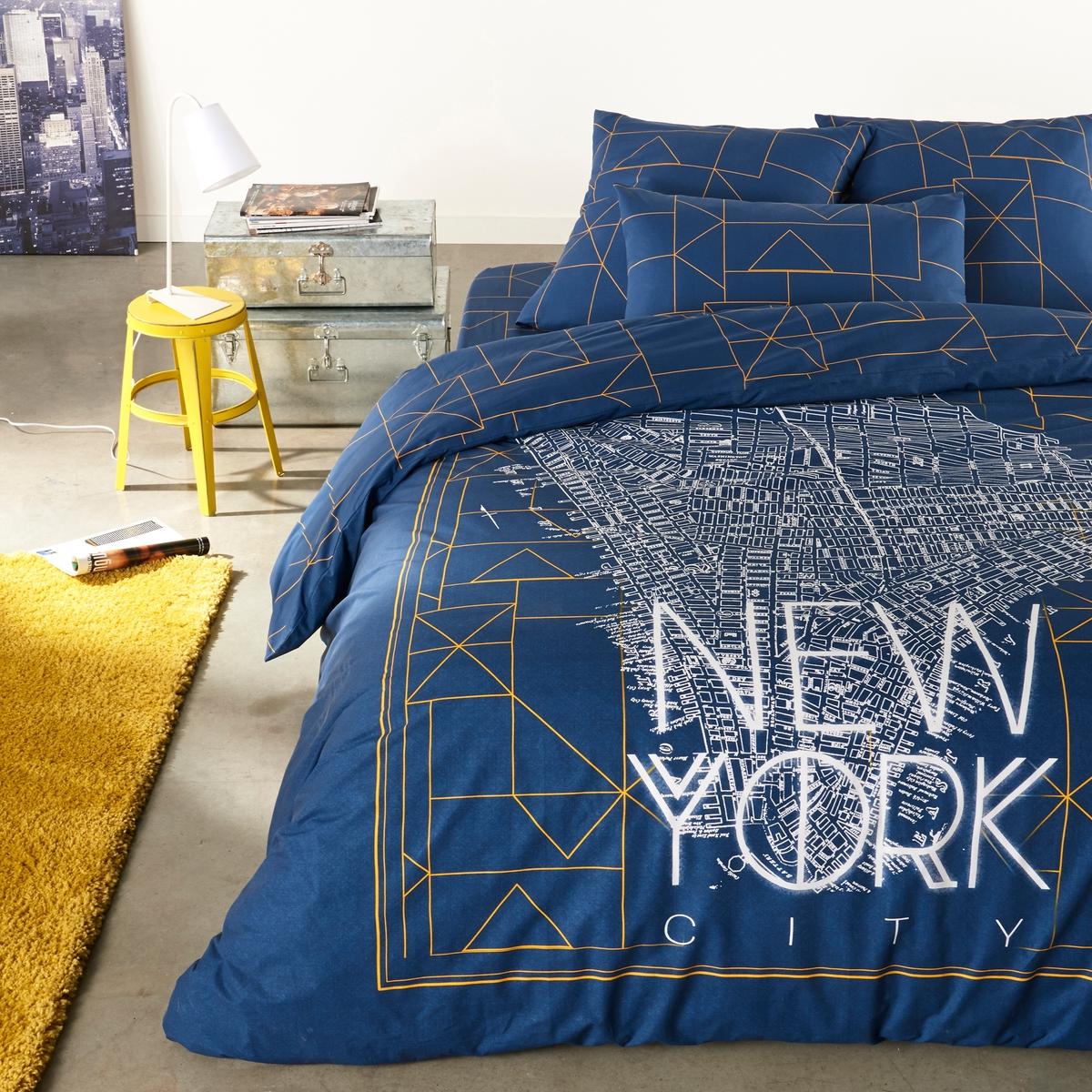 Пододеяльник DwightПододеяльник с рисунком : для приятных снов на этом постельном белье с рисунком города, который никогда не спит! Описание пододеяльника Dwight :Клапан для заправки под матрас.На лицевой стороне : рисунок плана Нью-Йорка и название города, на оборотной стороне - сплошной геометрический рисунокХарактеристики пододеяльника Dwight:100% хлопок (57 нитей/см?)Чем больше нитей/см?, тем выше качество материала.Машинная стирка при 60 °С.Размеры :140 x 200 см : 1-спальный200 х 200 см : 1-2-спальный240 х 220 см : 2-спальный260 x 220 см : 2-спальныйОткройте для себя всю коллекцию постельного белья Dwight на нашем сайте<br><br>Цвет: темно-синий<br>Размер: 240 x 220  см