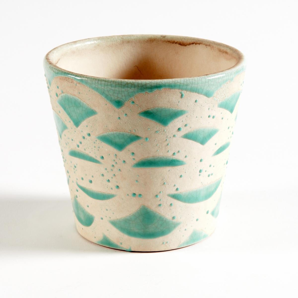Кашпо из керамики, покрытой глазурью, EtnimaХарактеристики круглого кашпо из керамики Etnima :Круглое кашпо из керамики, покрытой глазурью, с этническим рисунком.Размеры круглого кашпо из керамики Etnima :Размеры : диаметр 14 x высота 12,5 см.<br><br>Цвет: зеленый,оранжевый,светло-розовый,темно-розовый<br>Размер: единый размер