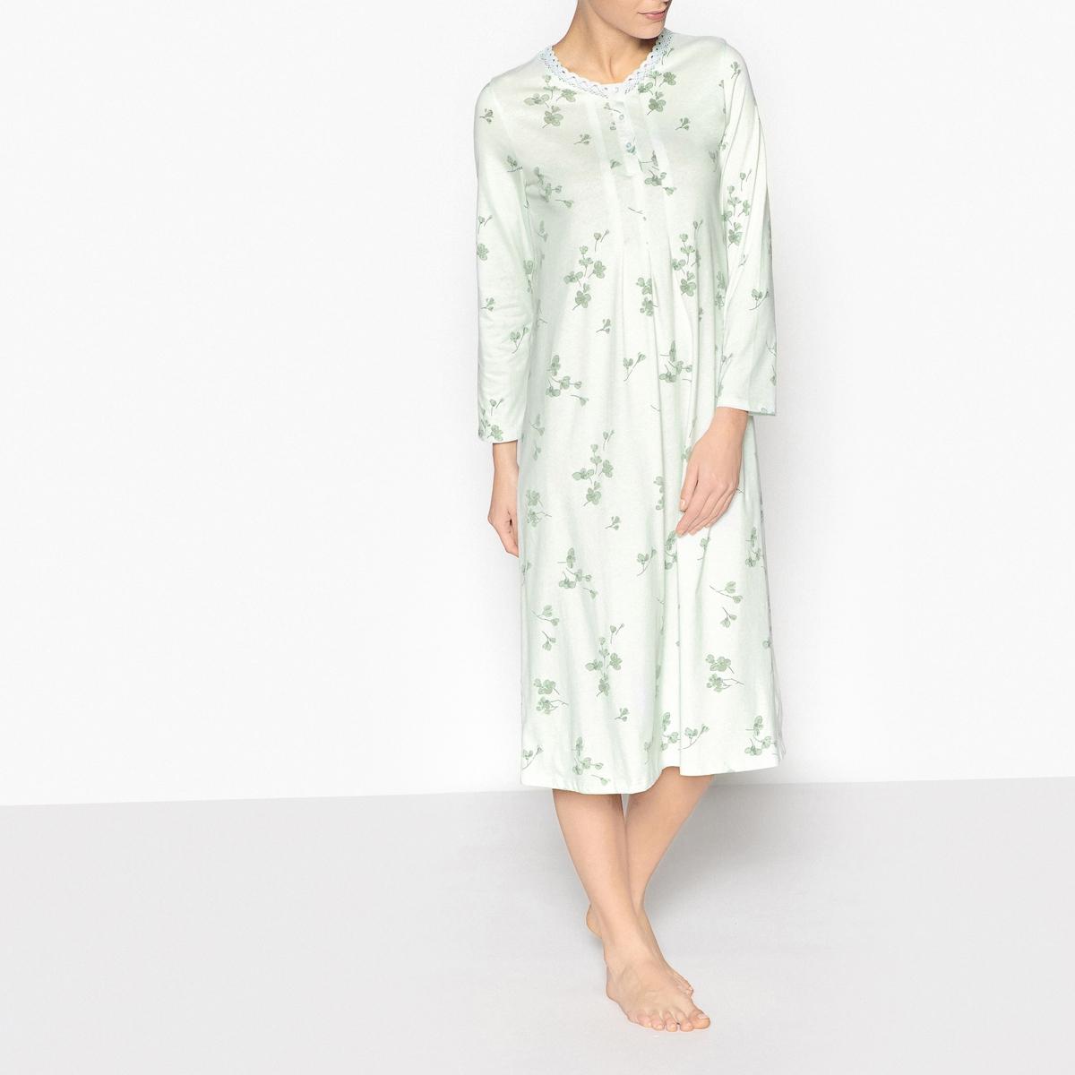 Сорочка ночная из чесаного хлопка