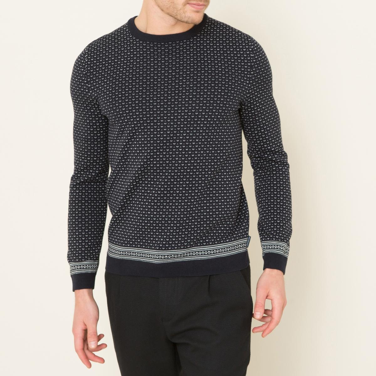 Пуловер DALMOСостав и описание    Материал : 100% хлопок    Марка : HARRIS WILSON<br><br>Цвет: темно-синий
