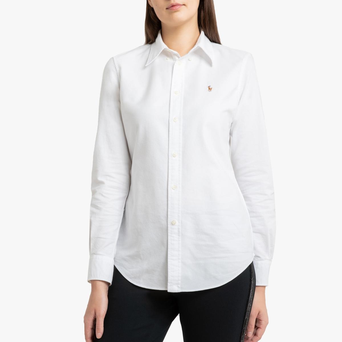 Рубашка La Redoute Классическая с длинными рукавами XS белый цены онлайн