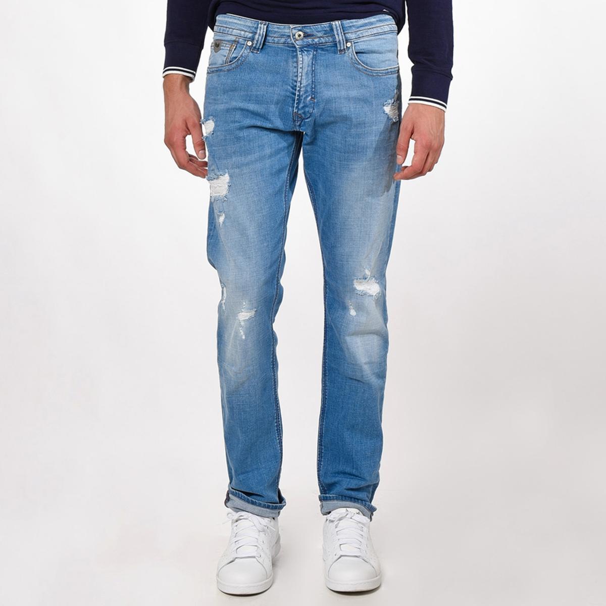 Jeans corte straight, rasgados, Broz, L34