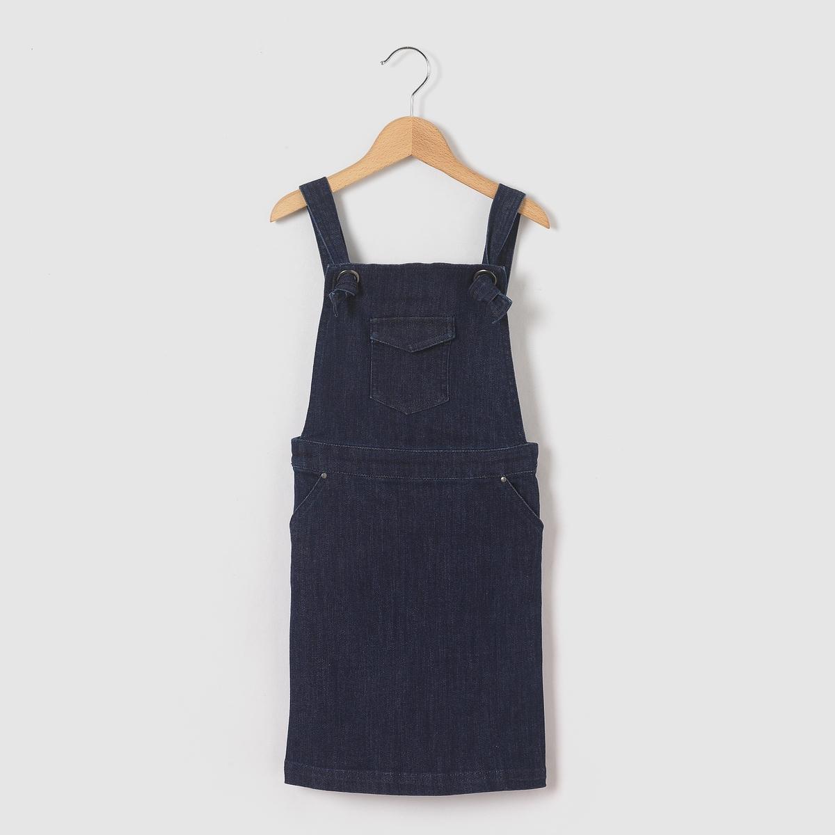 Платье-комбинезон джинсовое 3-12 лет