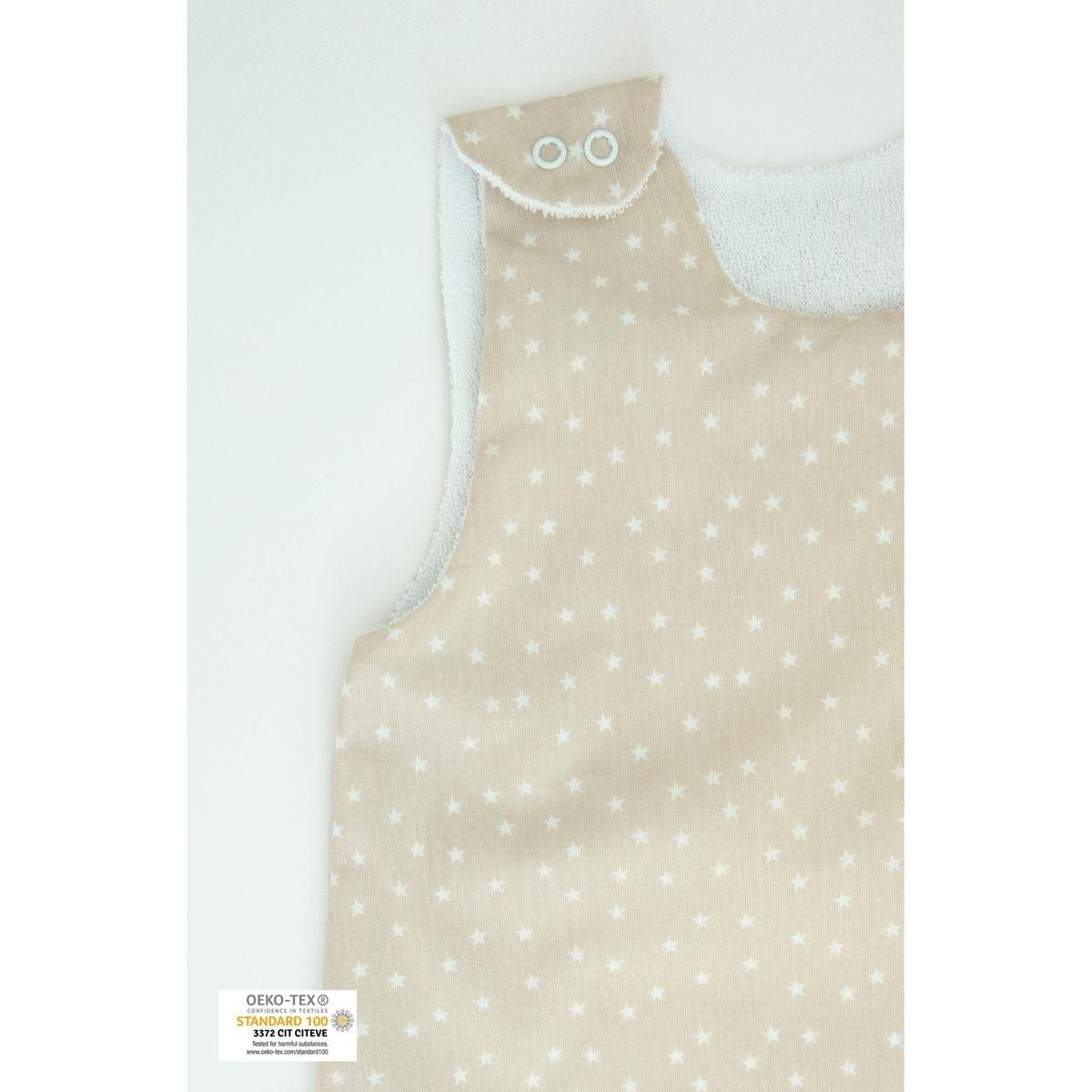 Gigoteuse Eté en coton bio motifs étoiles avec pochette assortie