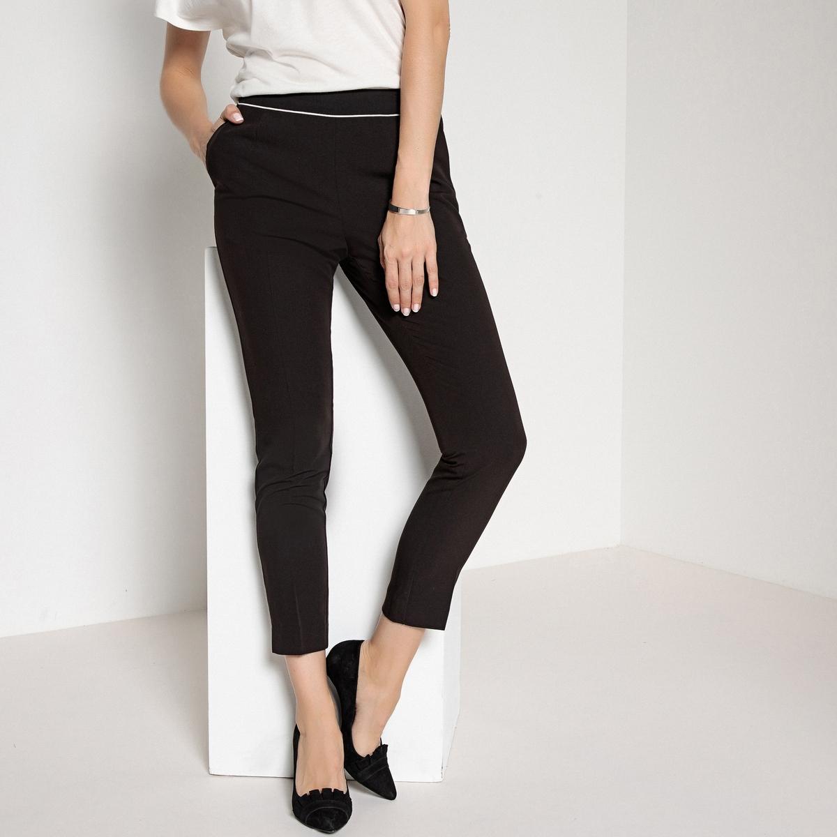 Imagen principal de producto de Pantalón recto, pliegues marcados delante y detrás - Anne weyburn