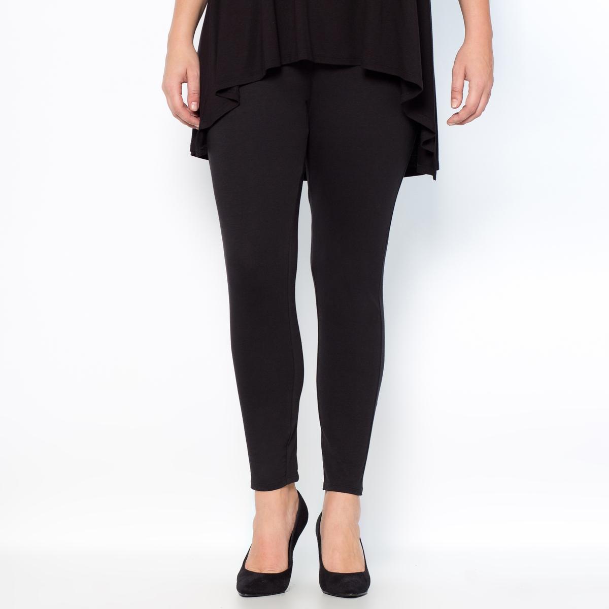Леггинсы длинныеДлинные леггинсы. Незаменимая вещь в любом гардеробе! Эластичный пояс черного цвета для моделей любого цвета. 95% хлопка, 5% эластана. Длина по внутр.шву 68 см.<br><br>Цвет: белый,серый меланж,черный<br>Размер: 62/64 (FR) - 68/70 (RUS)