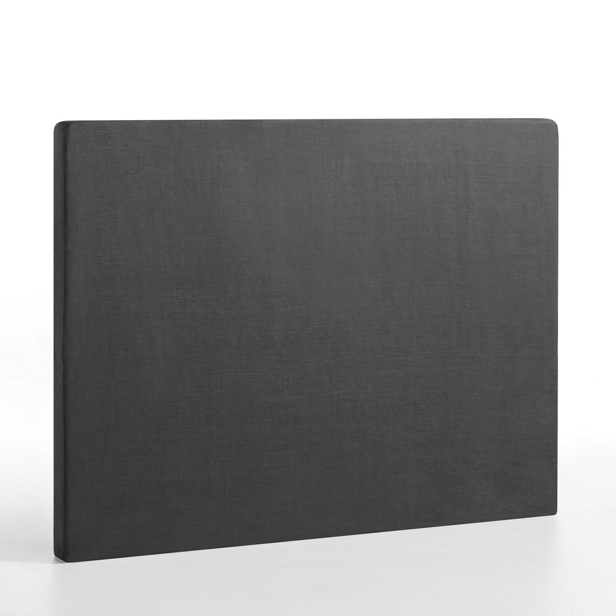 Чехол La Redoute Для изголовья кровати STADIA лен высота см 120 x 10 x 90 см серый чехол из льна с помпонами для изголовья кровати sandor