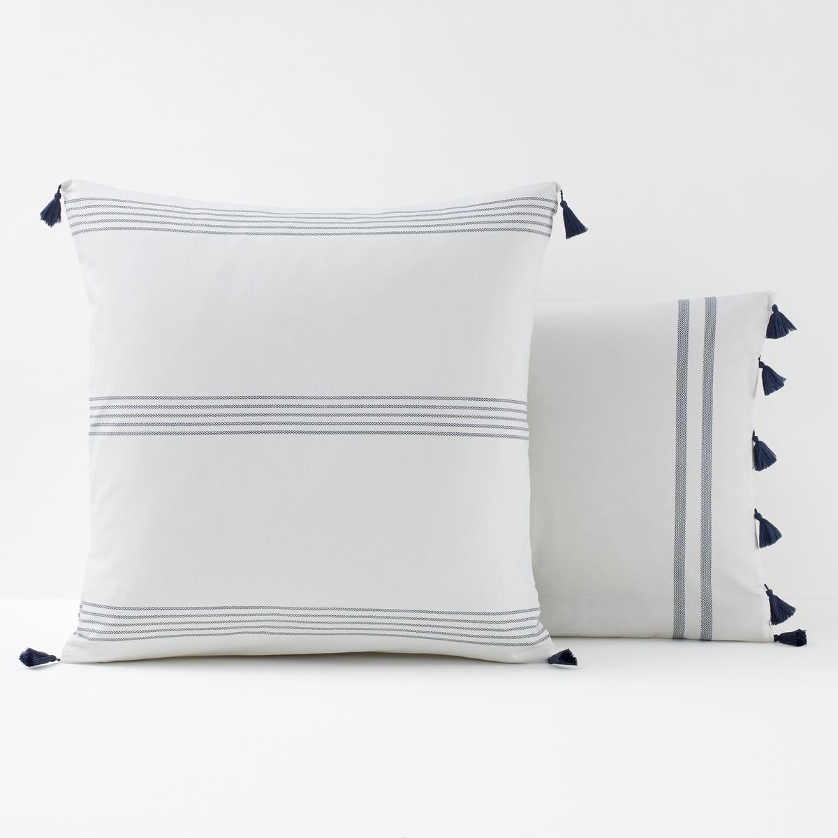 Наволочка La Redoute С рисунком RIAD 63 x 63 см белый чехол la redoute для подушки или наволочка однотонного цвета с помпонами riad 65 x 65 см розовый