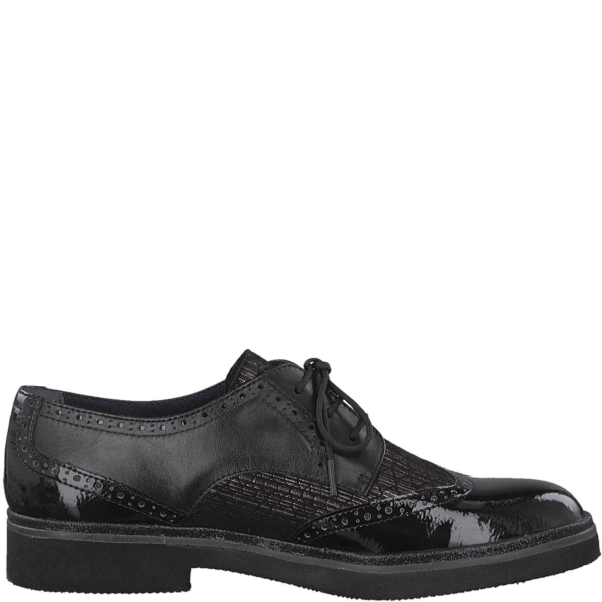 Ботинки-дерби кожаные KelaДетали •  Ботинки-дерби •  Высота каблука : 3 см •  Застежка : Шнуровка •  Круглый мысокСостав и уход •  Верх 34% кожи, 33% синтетического материала, 33% текстиля •  Подкладка 50% кожи<br><br>Цвет: черный