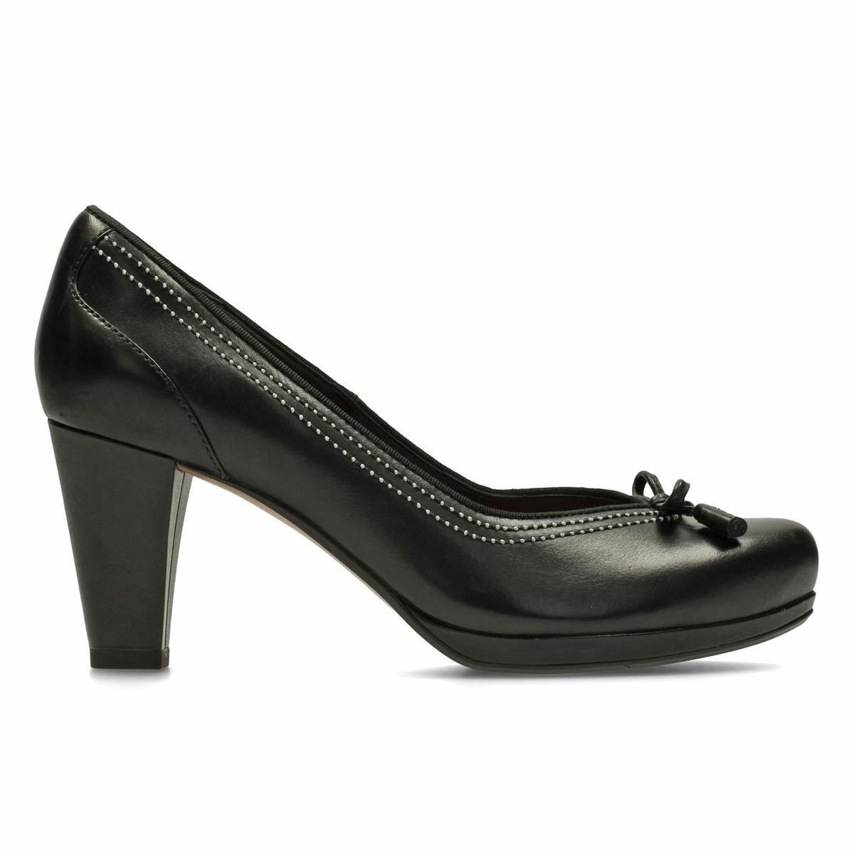 Туфли кожаные Chorus BombayВерх : Кожа.   Подкладка : Кожа.   Стелька : Кожа.   Подошва : Каучук   Высота каблука : 7,5 см     Форма каблука : квадратный.   Мысок : закругленный   Застежка : Без застежки<br><br>Цвет: черный<br>Размер: 38