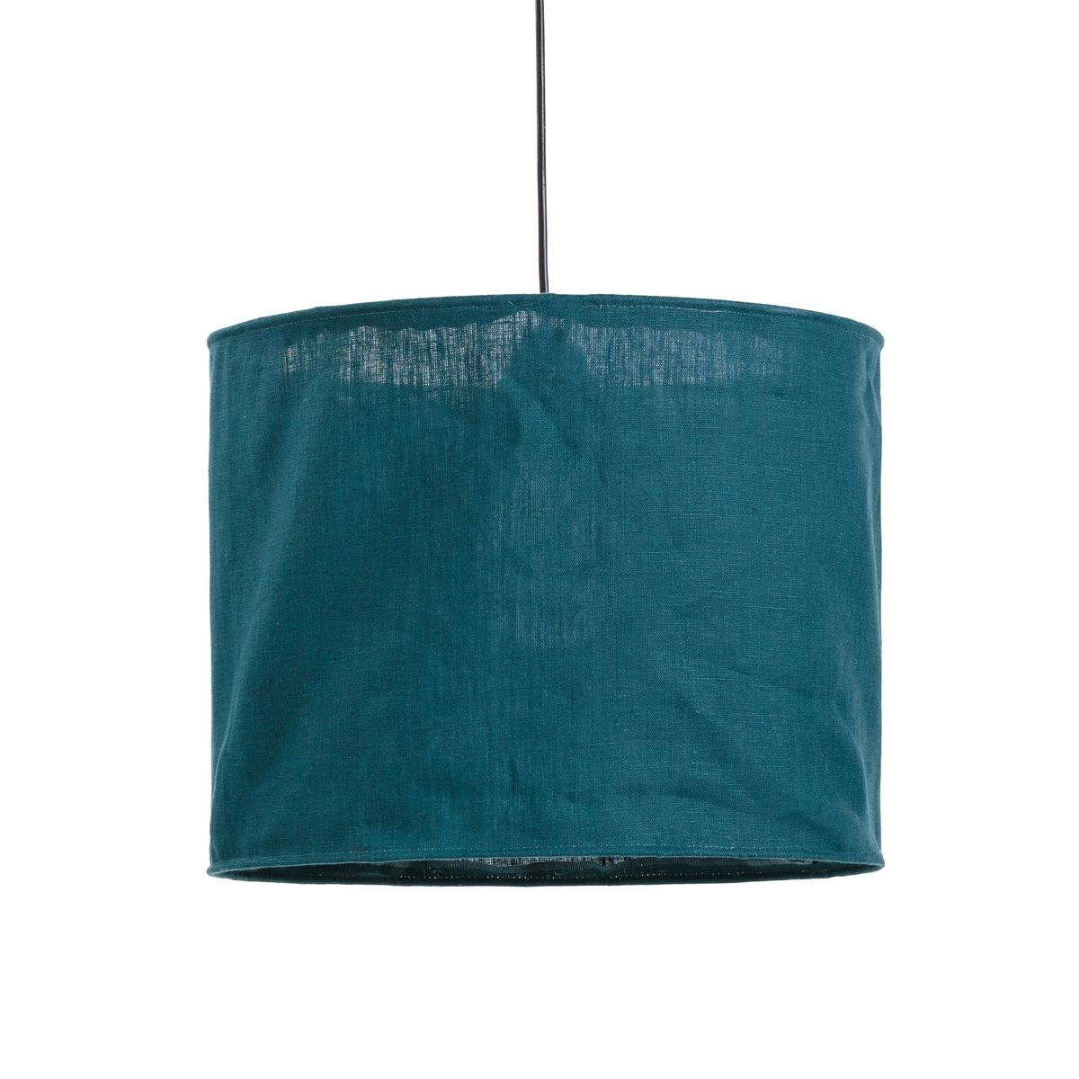 Фото - Абажур LaRedoute Из жатого льна Thade единый размер зеленый сумка шоппер laredoute из льна с блесками единый размер синий