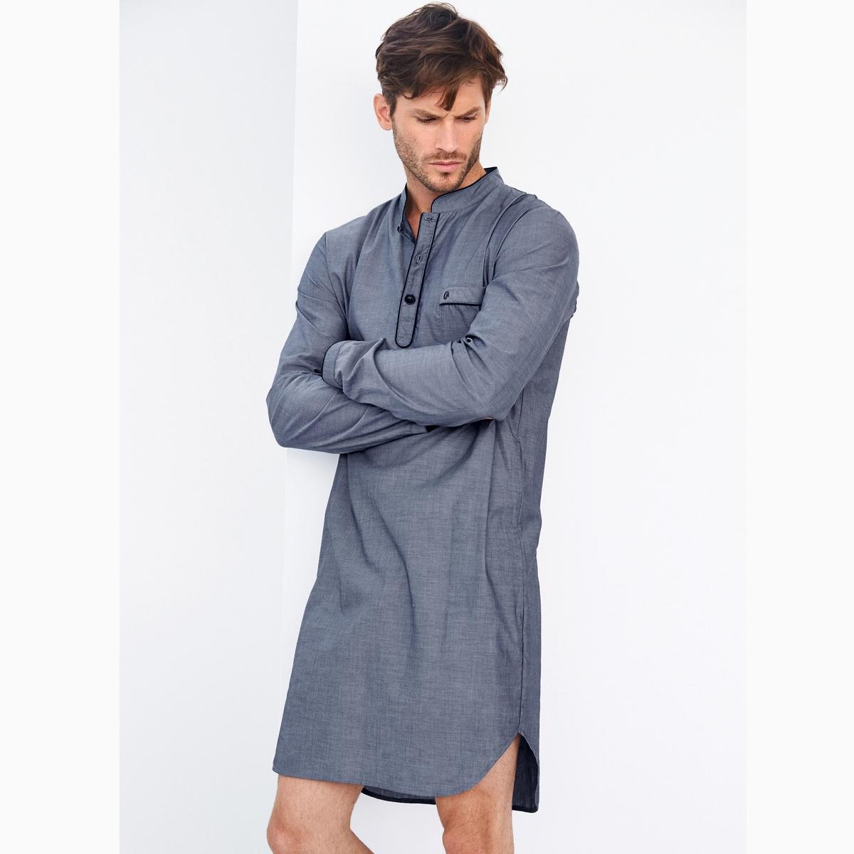Пижама-рубашка в полоску из поплина
