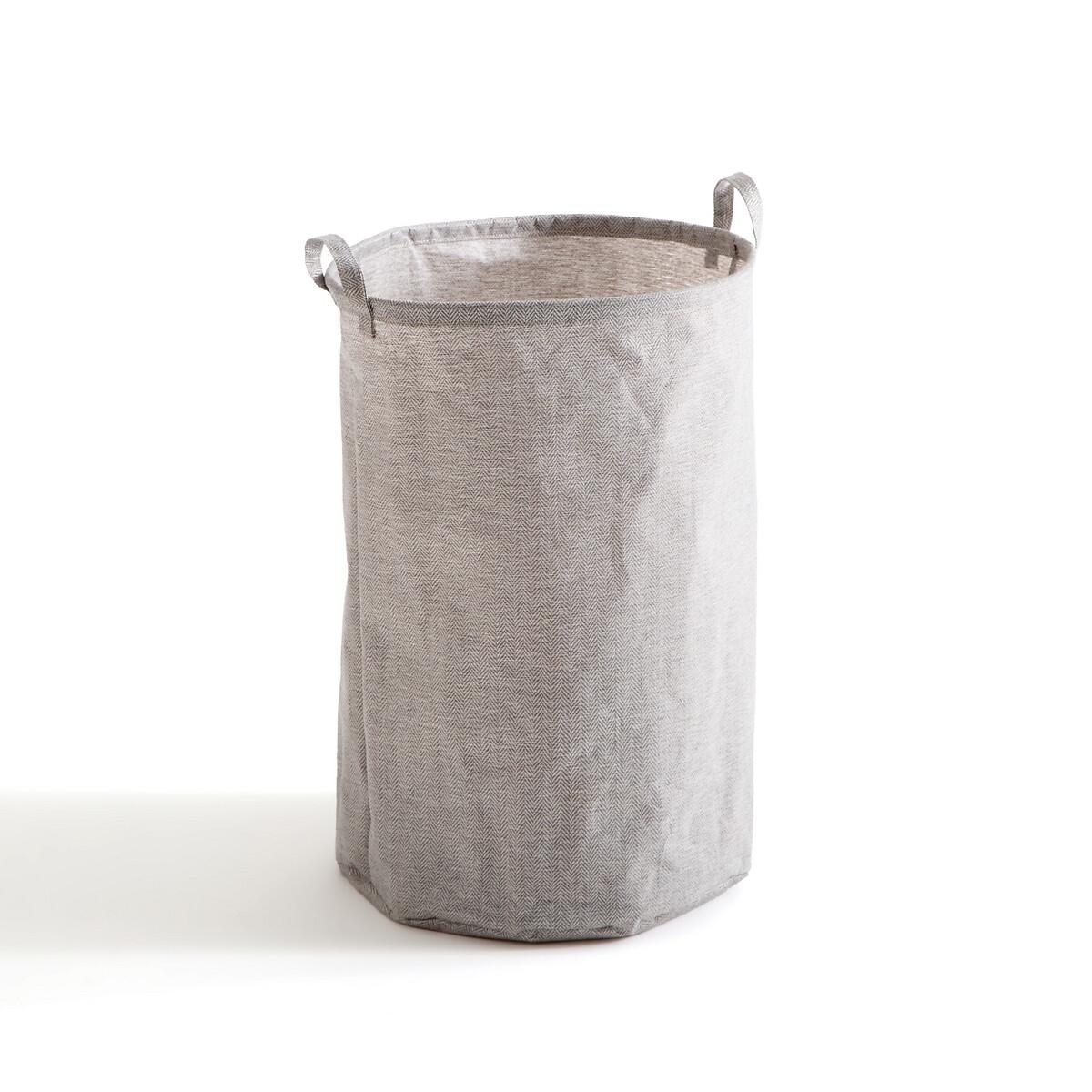 Фото - Корзина LaRedoute Для белья Monteo единый размер серый корзина laredoute для белья из ткани louison единый размер серый
