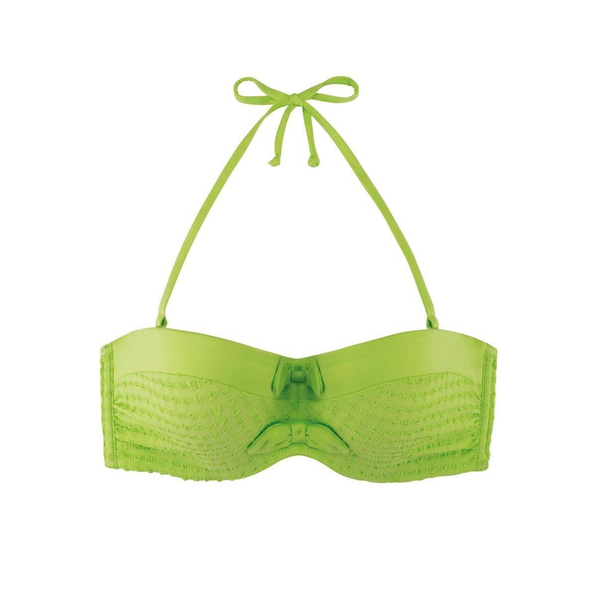 Haut de maillot de bain Bandeau Nerida Vert