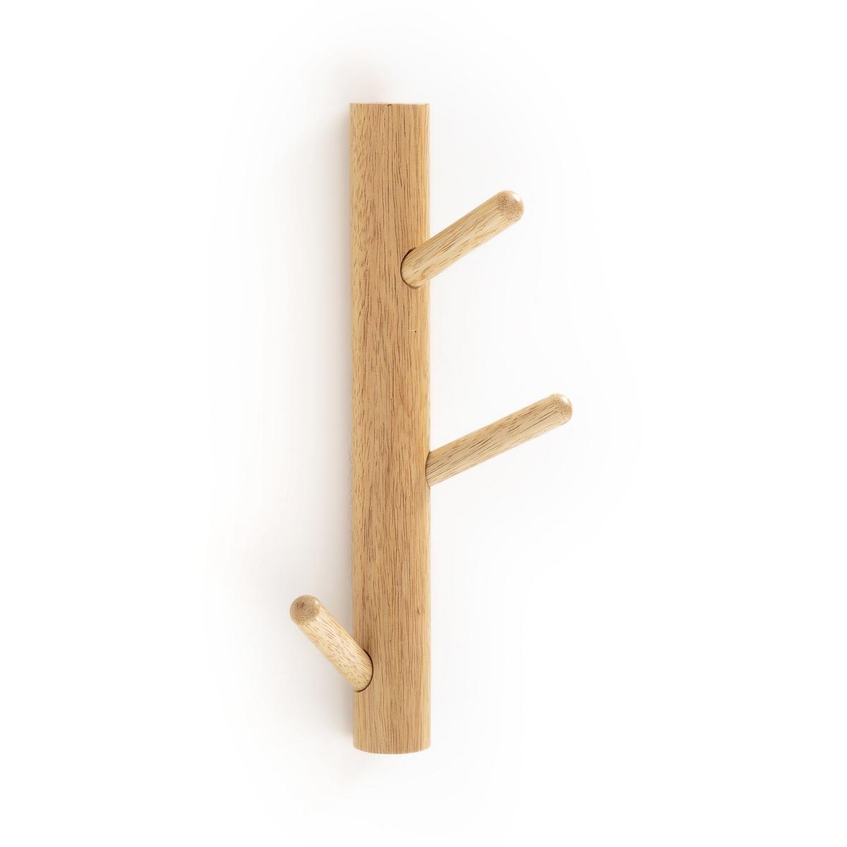 Вешалка La Redoute Настенная с деревянными крючками SUSPENSO единый размер бежевый вешалка la redoute настенная с крючками agama единый размер белый