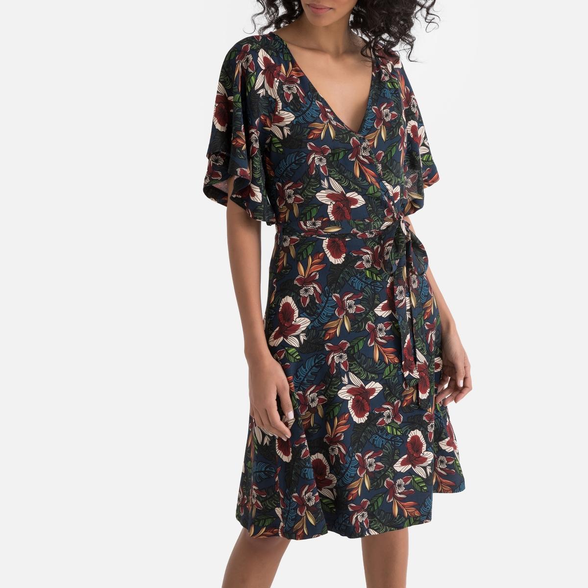 Платье La Redoute Расклешенное с запахом 34 (FR) - 40 (RUS) другие платье миди la redoute с запахом с цветочным принтом 54 fr 60 rus другие