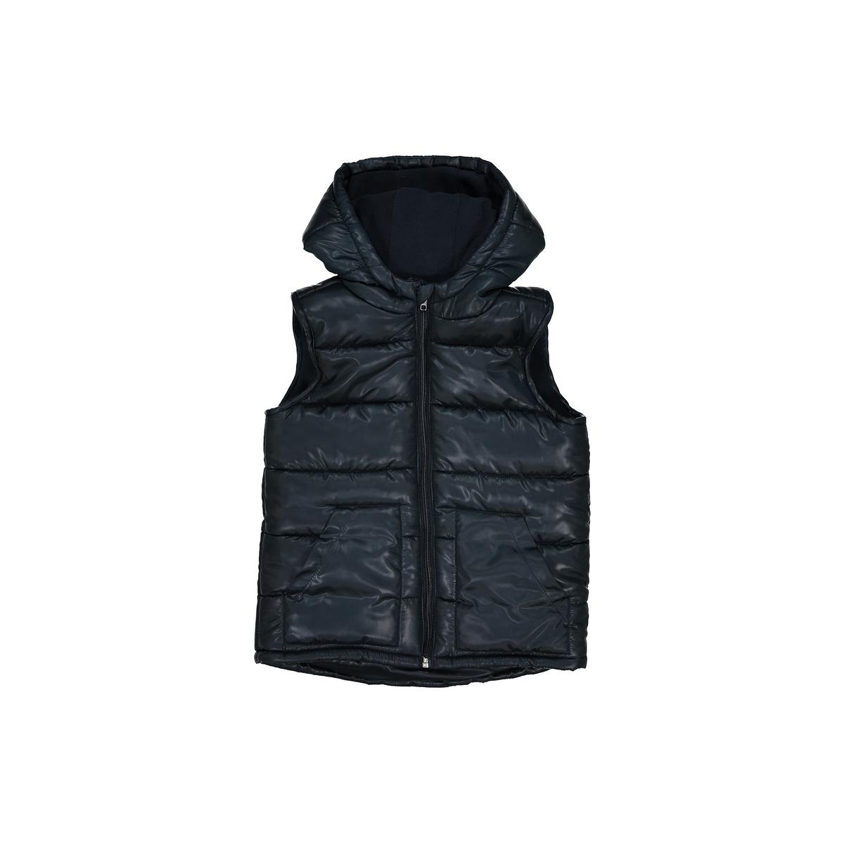 Стеганая куртка без рукавов, 3-12 летДетали •  Демисезонная модель •  Непромокаемая •  Застежка на молнию •  С капюшоном •  Длина  : средняяСостав и уход •  100% полиэстер •  Температура стирки 30° •  Сухая чистка и отбеливатели запрещены •  Не использовать барабанную сушку •  Не гладить<br><br>Цвет: синий морской<br>Размер: 3 года - 94 см.12 лет -150 см.10 лет - 138 см.8 лет - 126 см.6 лет - 114 см.5 лет - 108 см.4 года - 102 см