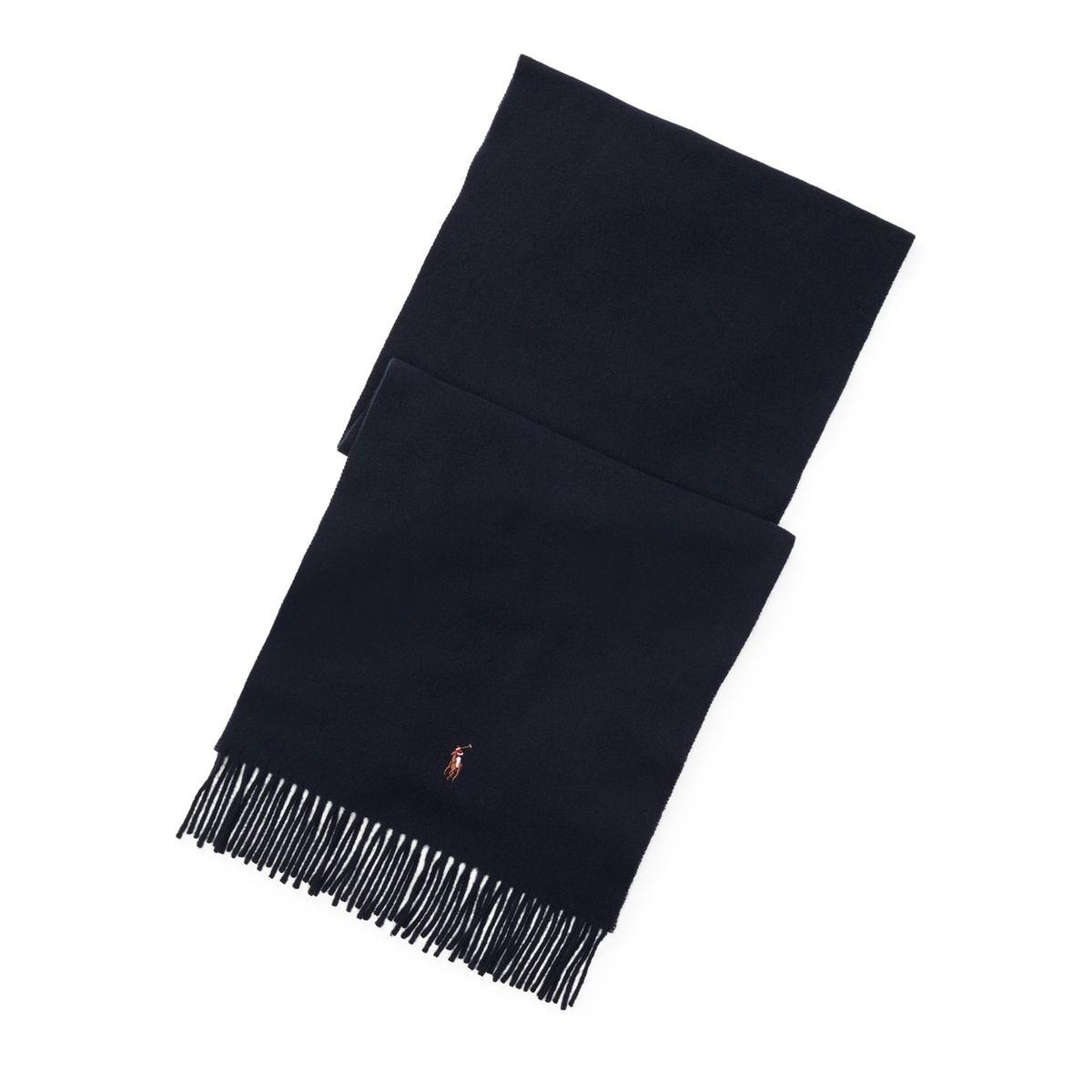 Echarpe en laine, à franges