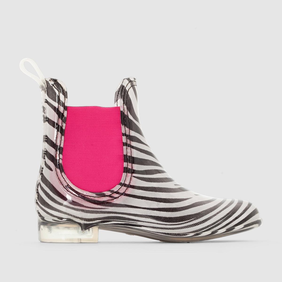 Ботинки с пропиткой от дождя, принт зебра