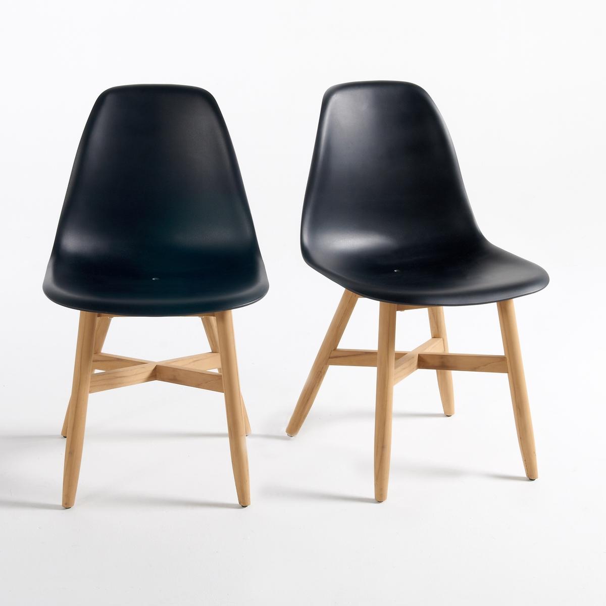 Комплект из 2 стульев для сада с сиденьем в форме раковины, Jimi стол для сада из акации fsc caleb