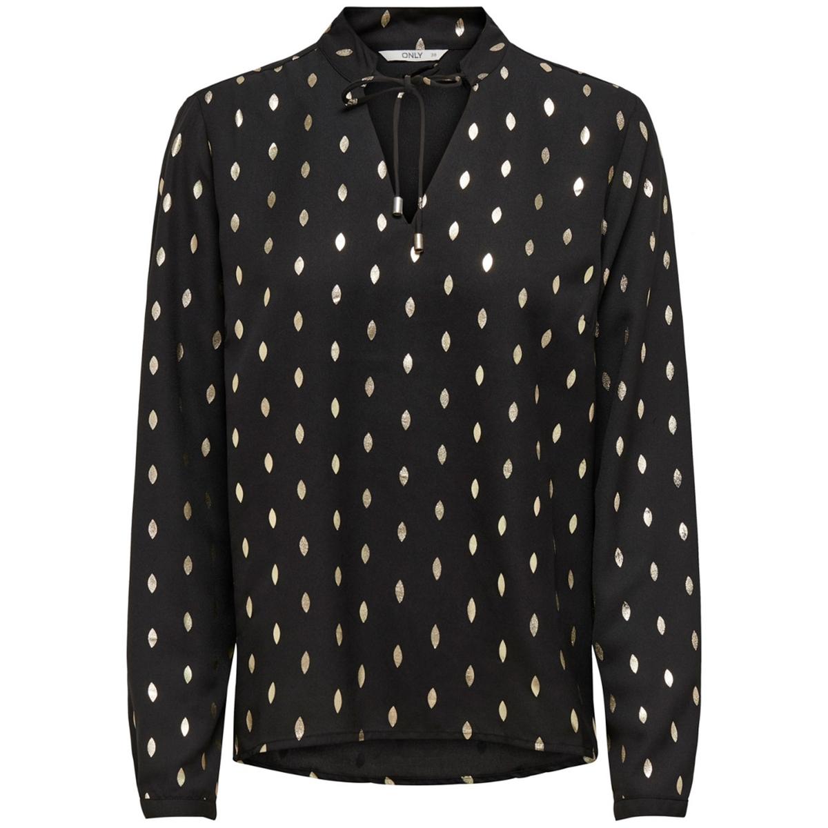 Блузка La Redoute С круглым вырезом с разрезом спереди и завязками S черный