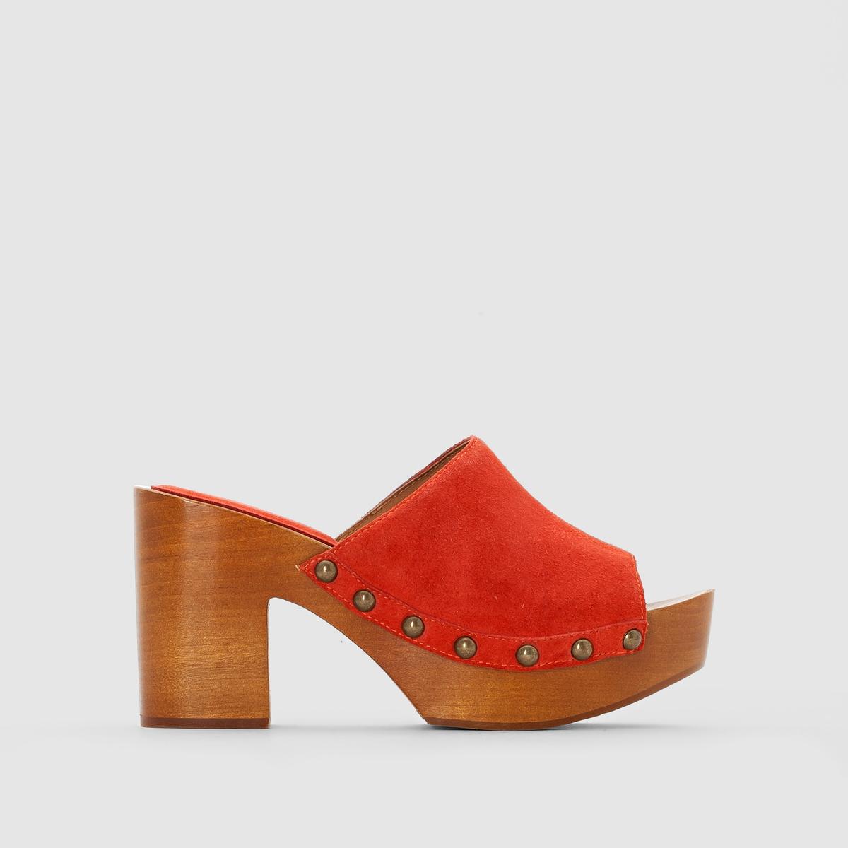 Туфли без задника кожаные от La Redoute