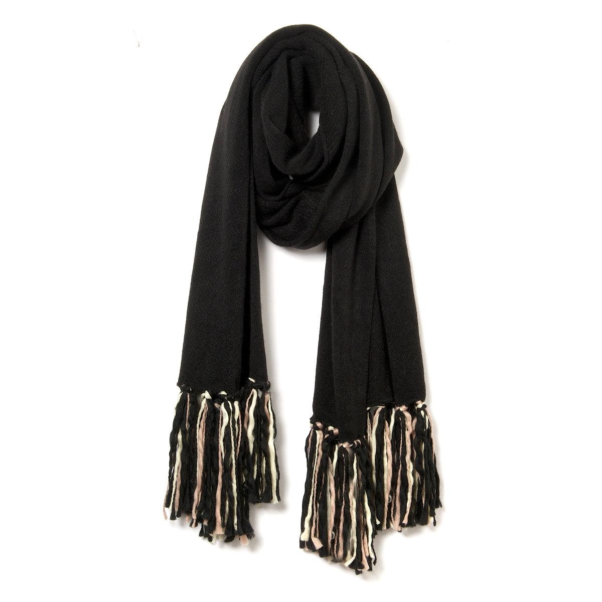 Теплый шарф с бахромой - SOFT GREY от La Redoute