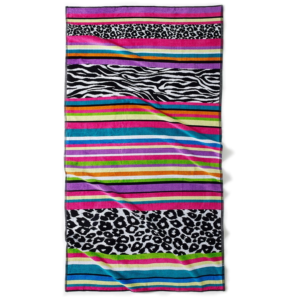 Полотенце пляжное  Safari, 420 г/м?Характеристики пляжного полотенца Safari 420 г/м? :Жаккардовый махровый материал высокого качества, 100% хлопка : 1 сторона из велюра, 1 сторона из махровой ткани.Мягкое и прочное полотенце, невероятная стойкость цвета.натуральный хлопок  420 г/м?.Машинная стирка при 40°Размеры :100 x 180 см.<br><br>Цвет: розовый + леопард