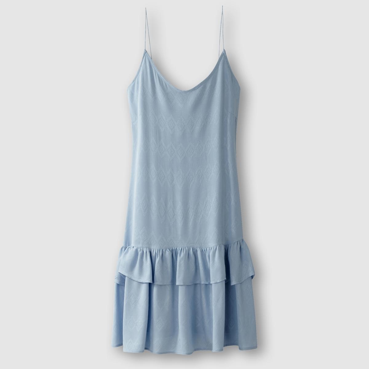 Платье на бретелях, низ с воланами VILA VISIMU STRAP DRESS