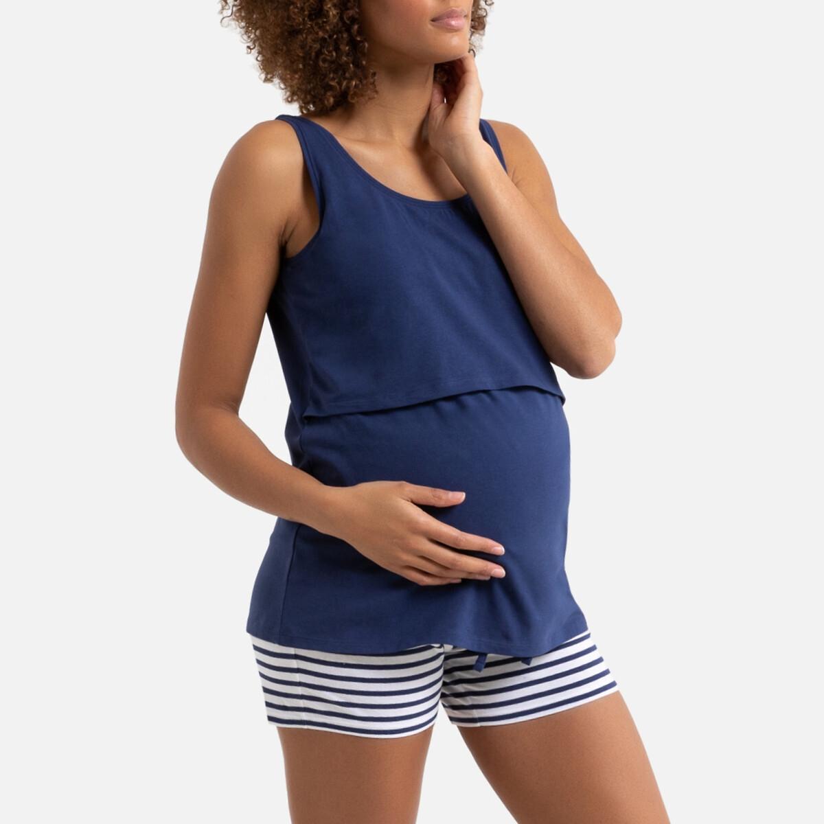 Pijama con short de embarazo y lactancia