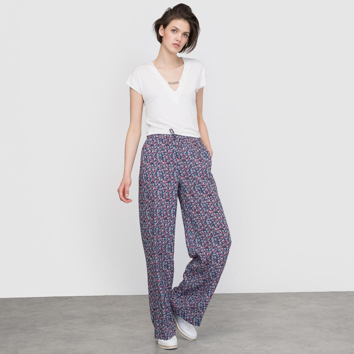 Широкие брюки с цветочным рисунком