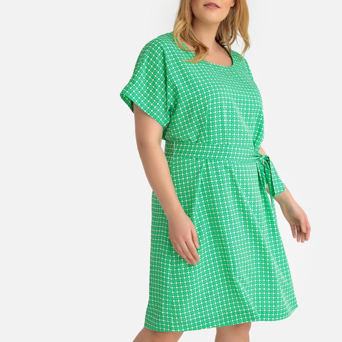 Платье La Redoute Прямое с принтом до колен 46 (FR) - 52 (RUS) зеленый платье la redoute прямое с принтом до колен 48 fr 54 rus черный