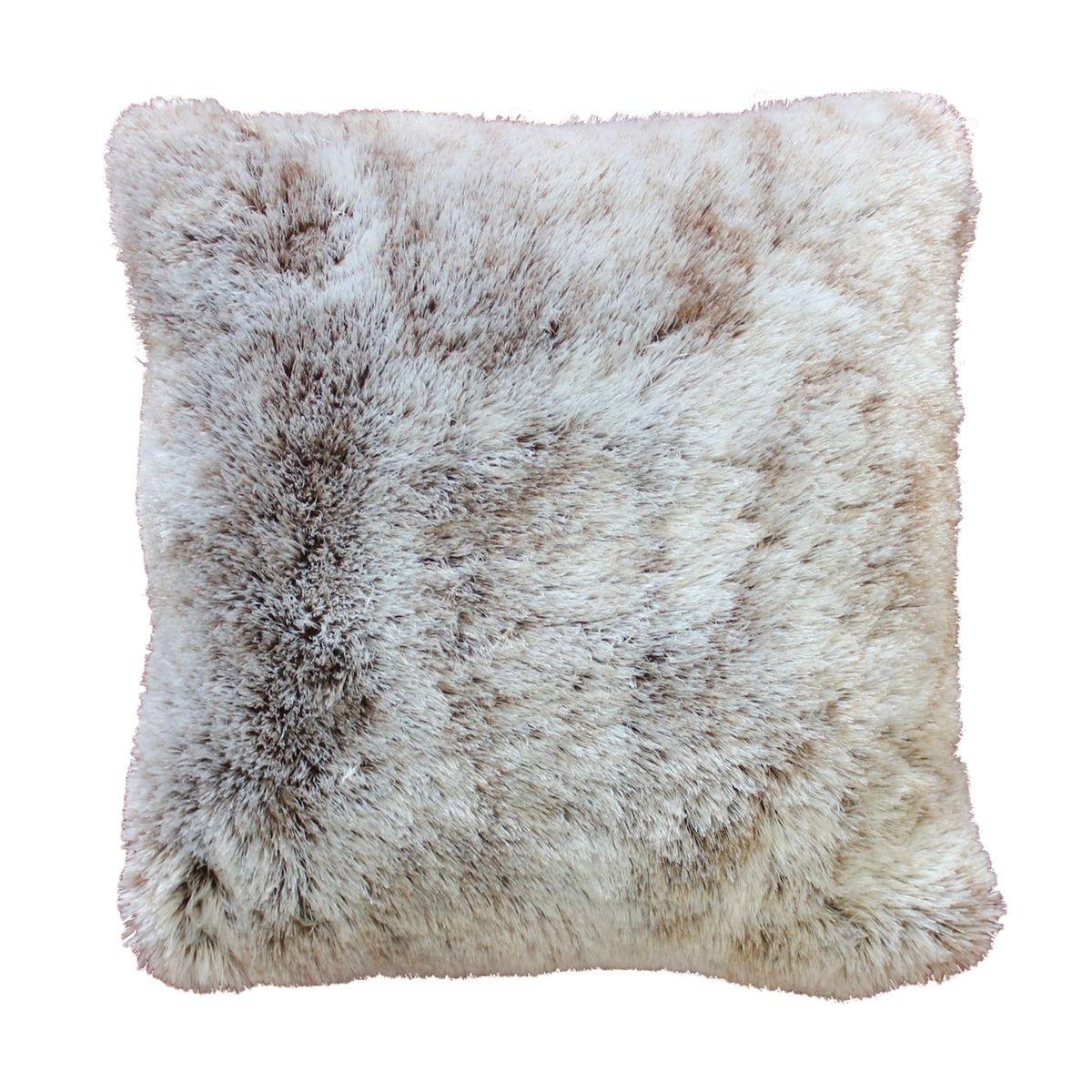 Coussin a poil doux imitation fourrure Collection Antartic  DOUCEUR D'INTÉRIEUR (1)