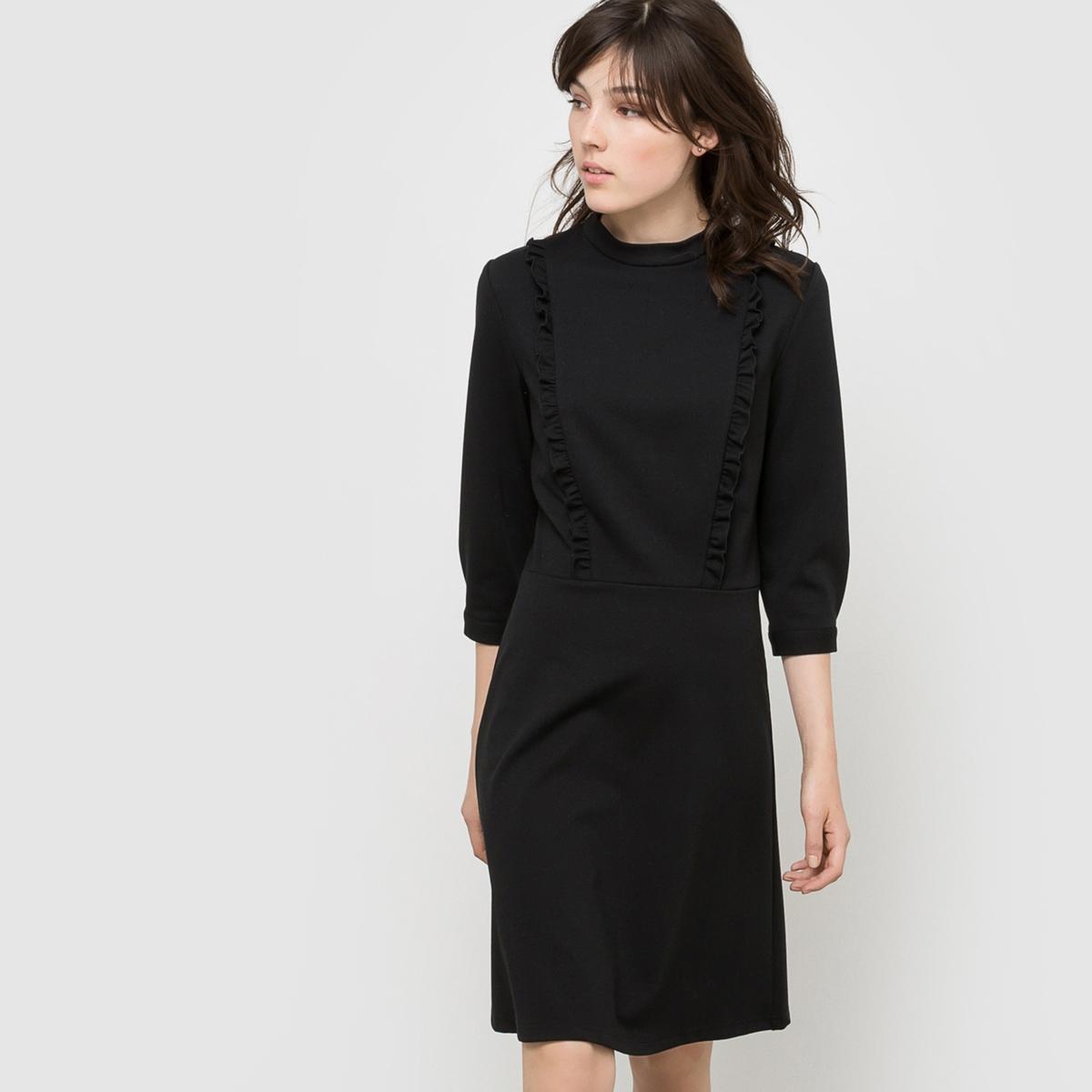 Платье с длинными рукавами платье двухцветное из трикотажа милано