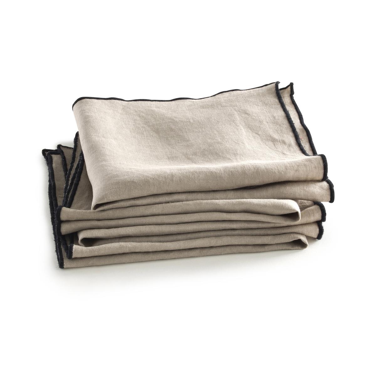 Салфетки Suzy из 100% льна (комплект из 4 шт.)4 салфетки Suzy из 100% льна . Натуральная мягкость льна и изысканность отделки черного цвета по краям.Скатерть Suzy продается на сайте в комплекте с этими салфетками .Состав : - 100% льнаРазмер : - 40 x 40 см Производство осуществляется с учетом стандартов по защите окружающей среды и здоровья человека, что подтверждено сертификатом Oeko-tex®.  .<br><br>Цвет: лаймовый,серый<br>Размер: комплект из 4