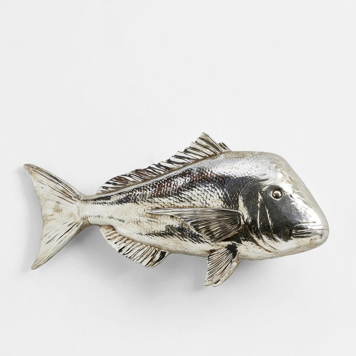 Рыба декоративная Lophius, модель 1Рыба Lophius. Идеальная декоративная фигура для украшения Вашего интерьераХарактеристики :- Из полистирола с серебристой отделкойРазмеры  : - Д69 x В32 x Г12 см<br><br>Цвет: серебристый<br>Размер: единый размер