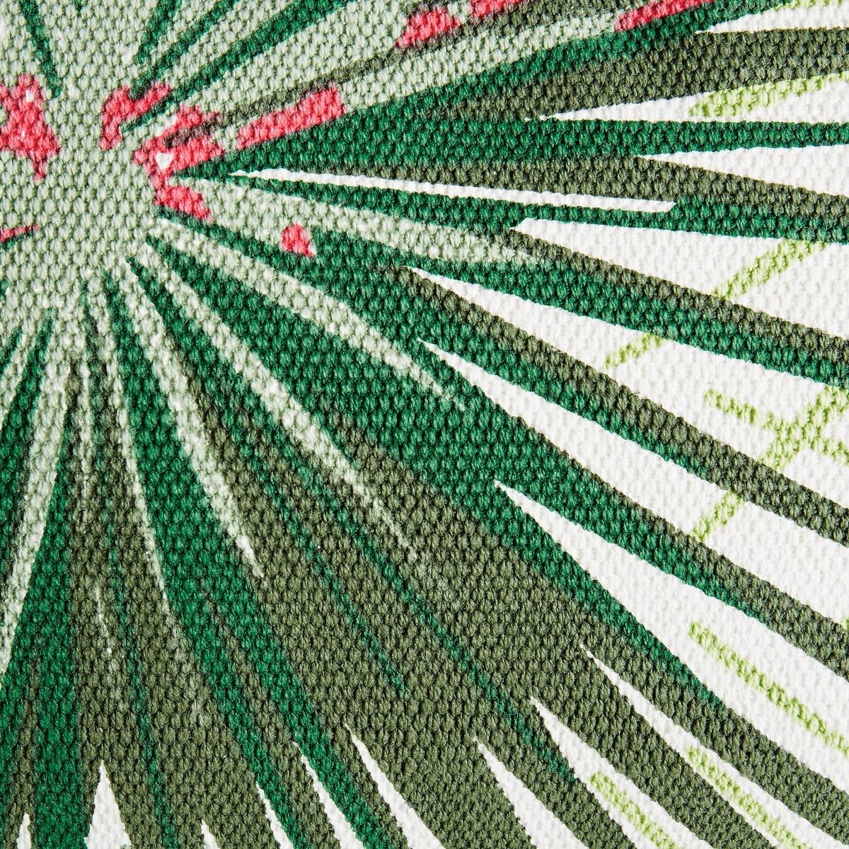 Чехол на подушку Saskia, прямоугольная модельЧехол на подушку с рисунком листья.Прямоугольная модель. Лицевая сторона с рисунком листья. Однотонная оборотная сторона.Отделка розовым кантом.100 % хлопка. Размеры:. 60 x 40 см.<br><br>Цвет: набивной рисунок