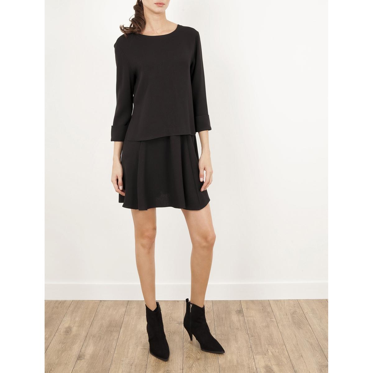 Платье с рукавами 3/4, из крепа LENNY B, RALLYEСостав и описание :Материал : 100% полиэстераМарка : LENNY B<br><br>Цвет: черный<br>Размер: 1(S).3(L).2(M)