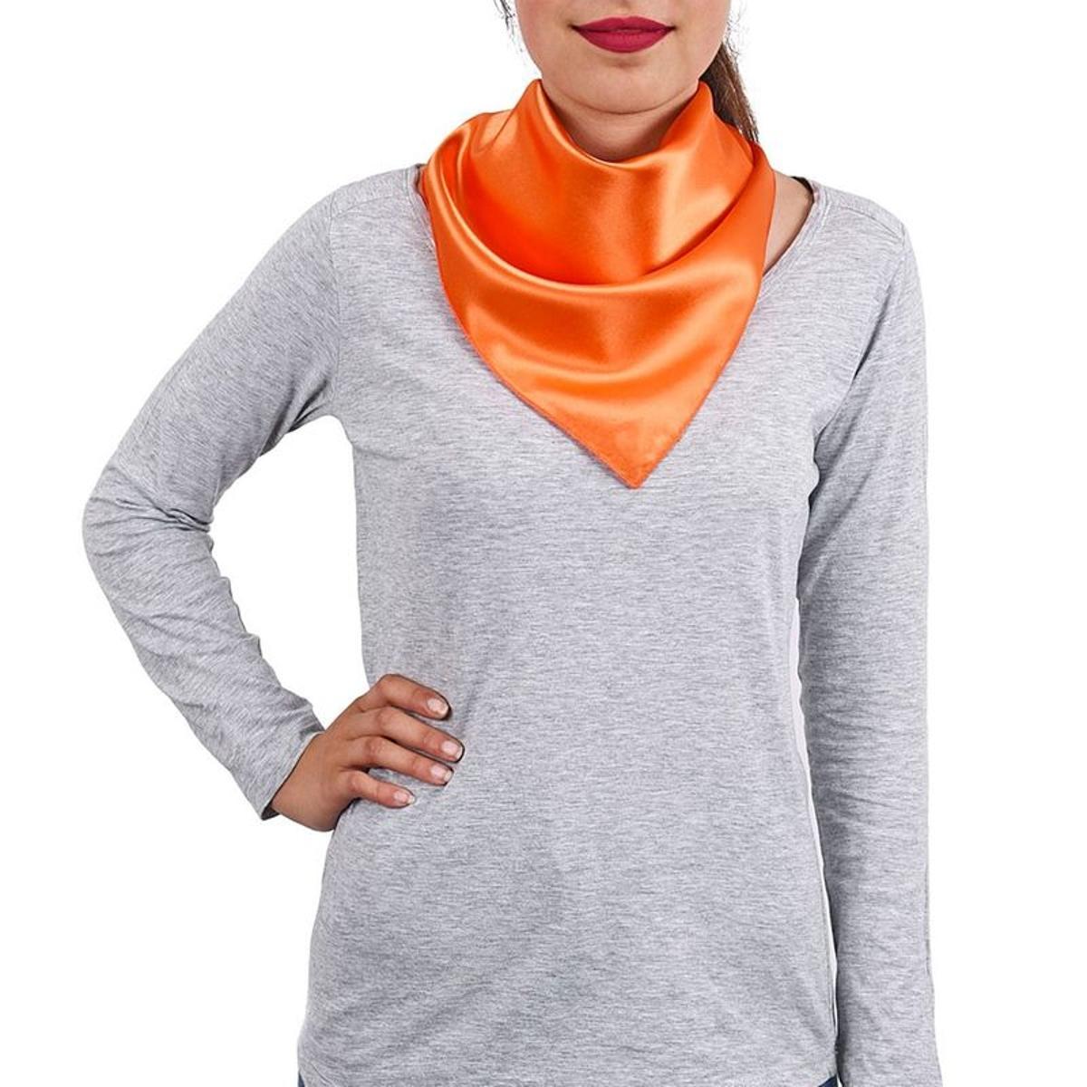 Foulard carré Hotessa Orange - Fabriqué en europe
