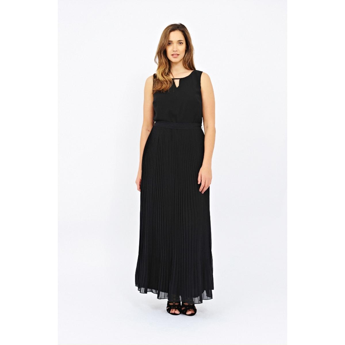 Платье длинноеПлатье длинное - LOVEDROBE. Без рукавов. Эффект плиссировки. Завязки на поясе. Красивый вырез спереди и сверху на спинке. Длина ок.147 см. 100% полиэстера.<br><br>Цвет: черный