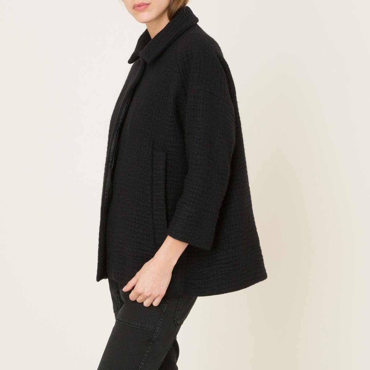Пальто короткое пальто короткое из шерстяного драпа
