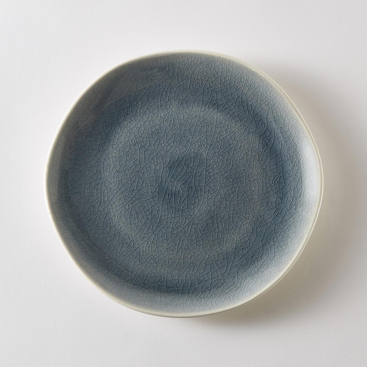 Комплект из десертных тарелок La Redoute Из фаянса GOGAIN единый размер синий комплект из 4 десертных тарелок sam baron