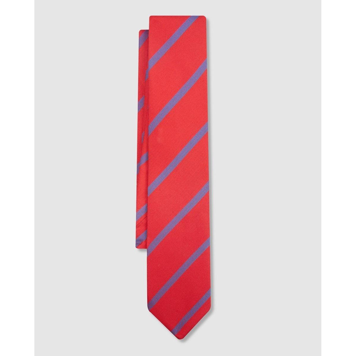 Cravate en soie imprimé rayures