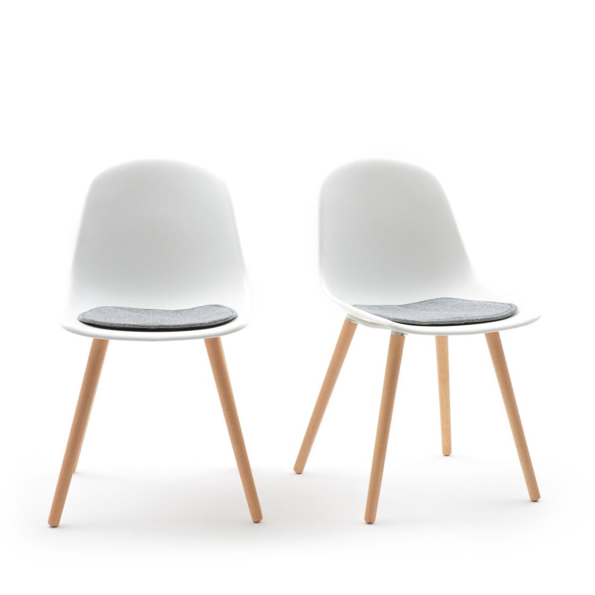 Комплект из 2 стульев с LaRedoute Пластиковым сиденьем Wapong единый размер белый кресла la redoute wapong единый размер белый