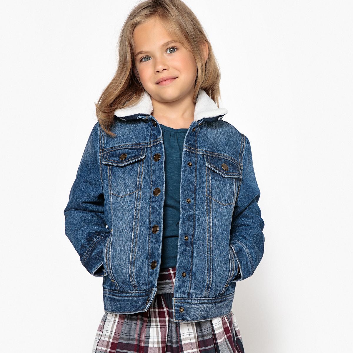 Блузон джинсовый со съемным воротником 3-12 лет блузон двухцветный 3 12 лет