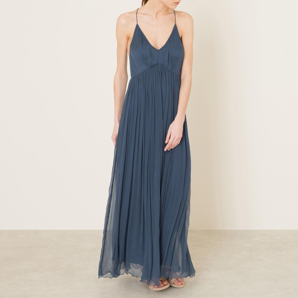 Платье CALICEСостав и описание Материал : 100% вискозаДлина : ок.145 см. для размера 36Марка : MES DEMOISELLES<br><br>Цвет: телесный,темно-синий