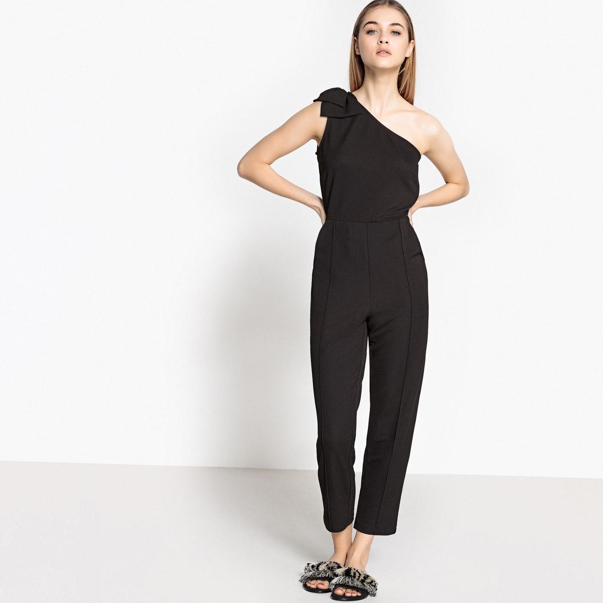 Комбинезон с брюками с открытыми плечами