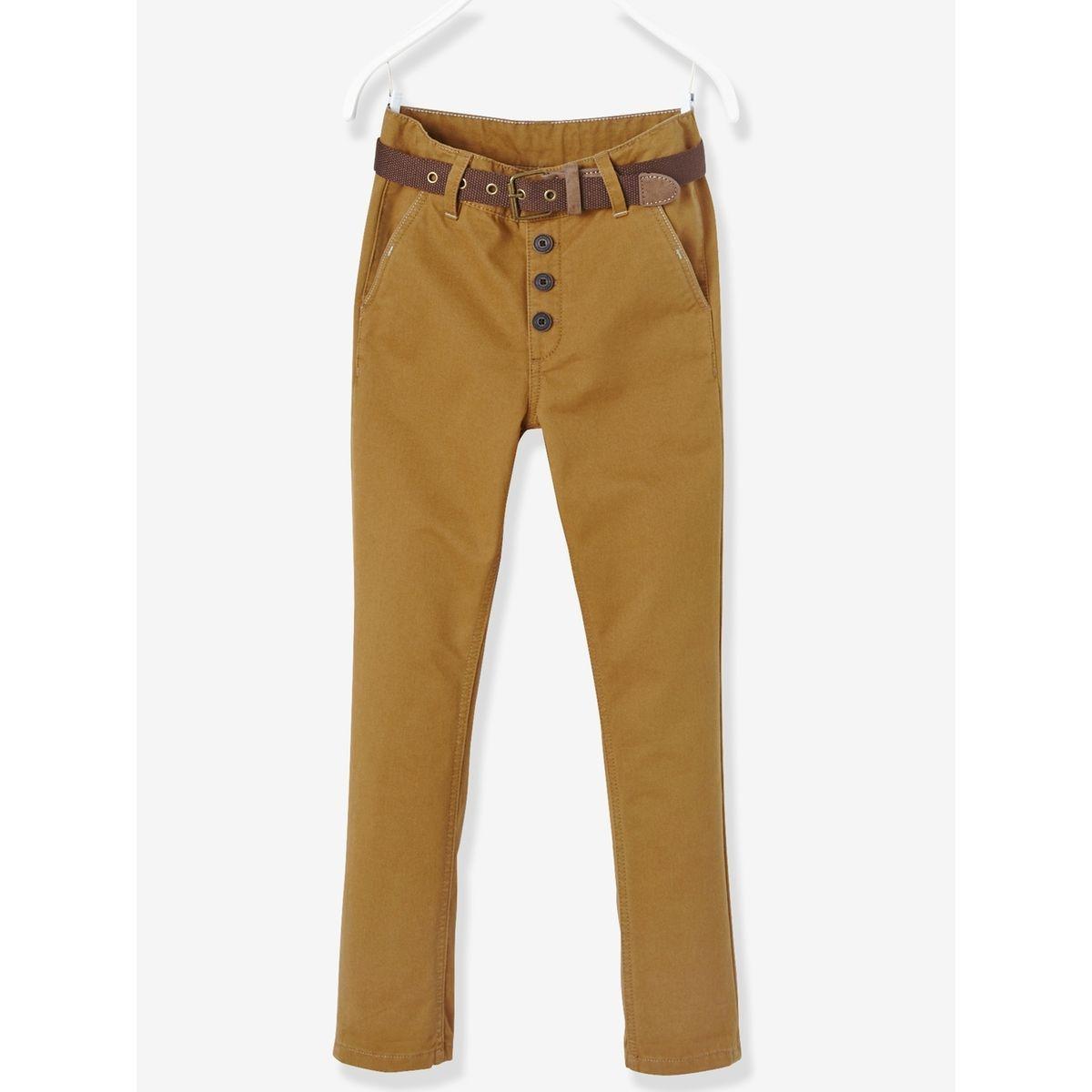 pantalon chino gar on avec ceinture. Black Bedroom Furniture Sets. Home Design Ideas