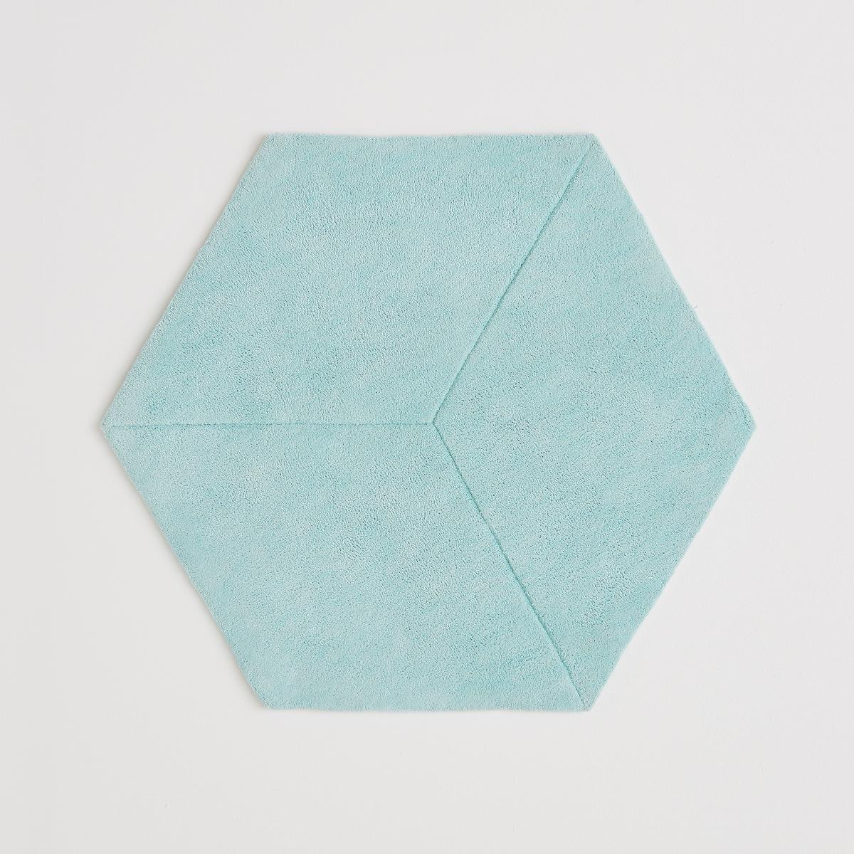 Ковер La Redoute Шестиугольный с эффектом D Camino хлопок единый размер зеленый