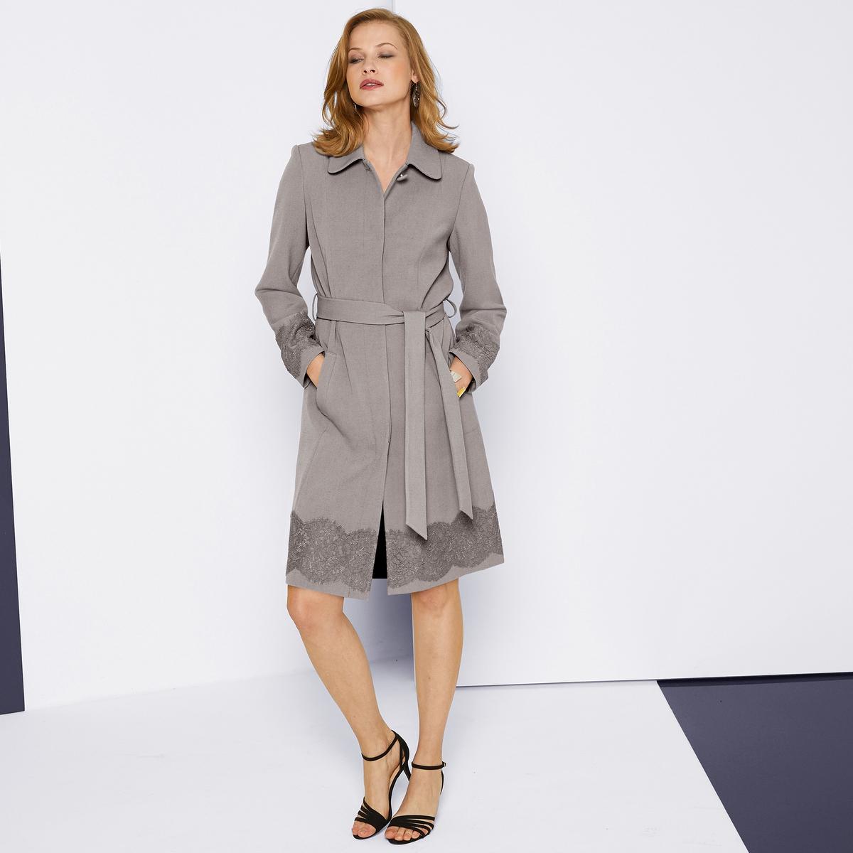 Imagen secundaria de producto de Falda recta de satén de algodón stretch - Anne weyburn